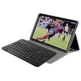 GAOword Tableta de 10 Pulgadas Android 10.0, UNISOC OS S9863A 8-Core IPS HD 1280x800 Pantalla WiFi Bluetooth Dual 4G LTE Google,Negro,64GB BT Keyboard