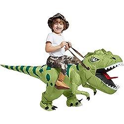 7. One Casa Inflatable Kid's T-Rex Dinosaur Riding Costume