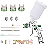 InLoveArts HVLP Juego de herramientas de pistola,rociador de pintura neumático de tres cabezas con 3 boquillas Pistola 1.4/1.7/2.0 mm Adecuadas para pintar automóviles, muebles y otros equipos