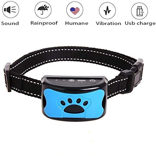 YongZhiFang Adiestramiento para Perros Collares,Entrenamiento canino sin choques eléctricos con Sonido y vibración Seguro y Humano.Ideal en Razas Pequeñas Medianas.