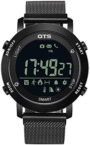 JSL Reloj digital resistente al agua multifunción Bluetooth Smart Watch Hombres s Militar medición de altitud monitoreo del sueño Información Recordatorio Función