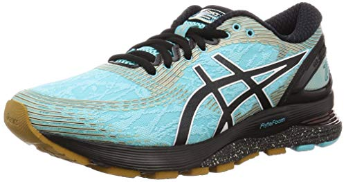 Asics Gel-Nimbus 21 Winterized, Zapatillas de Running para Mujer, Verde (Ice Mint/Black 400), 39 EU