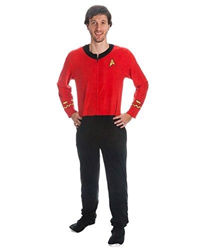Star Trek hombres rojo Union Suit Onesie...