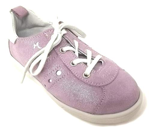 Minibel - Chaussures Noel - Baskets Paillettes Rose Orchidee - Taille 32 EU
