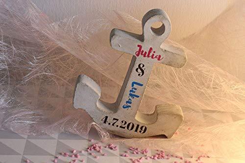 Beton Anker | Hochzeit | Valentinstag | Geburt & Taufe | Kommunion