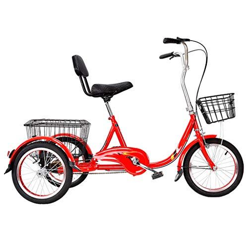 Dreiräder Erwachsene Tricycles,Dreirad Erwachsene Trikes 20 Zoll 3 Rad Bikes, Lastenfahrrad Fahrräder Cruise, Doppel Bremsen, Trike Mit Einkaufskorb Frachtkorb For Senioren, Frauen, Männer, Anfänger