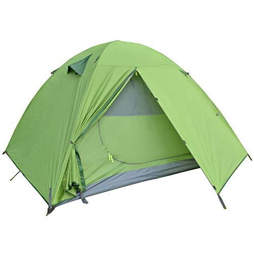 AOGUHN-tent - Backpacking-kampeertent, lichtgewicht 1-3-persoonstent Dubbellaags waterdichte draagbare aluminium stokken Reistenten