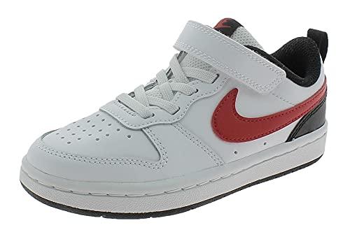 Nike Court Borough Lo2 (PSV), Scarpe da Passeggio Unisex-Bambini, Bianco, 28.5 EU