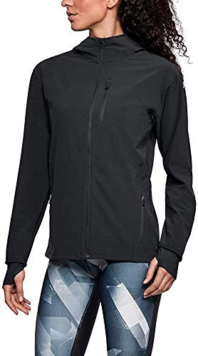 Under Armour Women's Outrun The Storm Jacket, Black /Reflective, Small