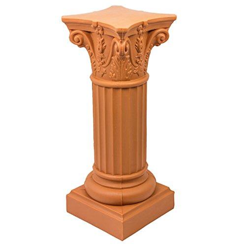 Form Plastic Gartensäule Terracotta Säule Gartendeko Gartenfigur Dekosäule H 80 cm Kunststoff