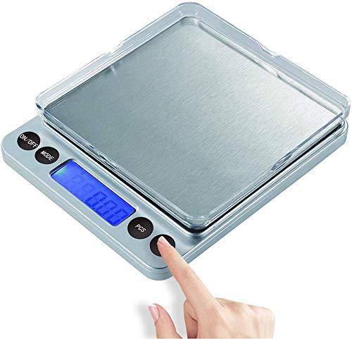 NEWROAD Digitale Küchenwaage, Digitalwaage Küche, Elektronische Waage, Hohe Präzision auf bis zu 0.1g (3kg Maximalgewicht), Tara-Funktion, LCD-Display