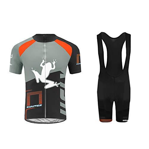 UGLY FROG Completo Ciclismo Uomo Estiva Magliette Ciclismo Maniche Corte Salopette Ciclismo Uomo Abbigliamento Triathlon XTNL02
