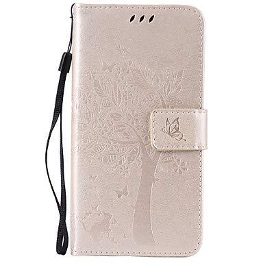HL CASES And COVERS Belle Casse, custodie, Tuta A Portafoglio/Strass / con Supporto Tinta Unita Similpelle Morbido Card Holder Copertura di Caso per LGLG K10 / LG K8 / LG K7 / LG