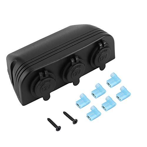Mini Portable 3 in 1 Black Car Cigarette Lighter Socket Splitter 12V Charger Power Adapter Universal For Car Trucks