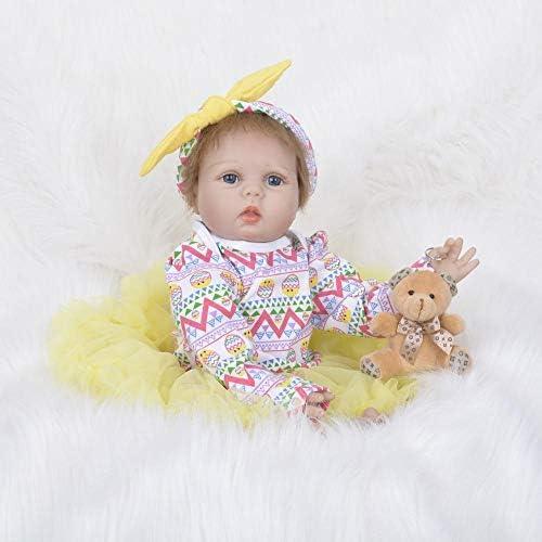 Hongge Reborn Baby Doll,Silikon Reborn Puppe lebensecht Wiedergeburt Puppe Kinder Spielzeug Weißnachten Geburtstag 55cm