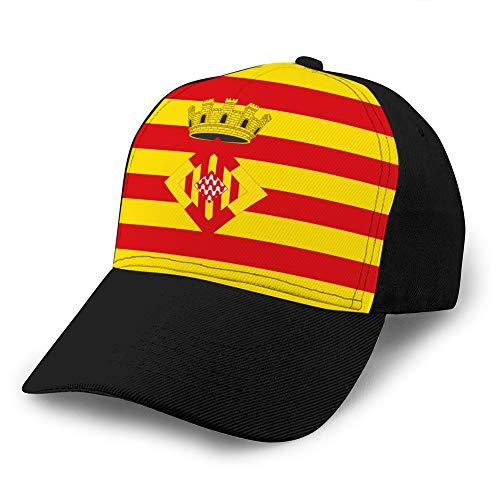 Gorras de béisbol, Sombreros Militares, Sombreros de papá para el día del Padre, Regalo de acción de Gracias Flag of girona es una Provincia de españa Hip Hop Hat