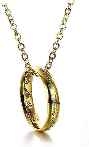 NC110 Collar de Reyes Collar de dijes Colgante Collar de Parejas para Mujeres Hombres Collares y Colgantes de Acero Inoxidable Amantes Regalo Joyas Bijoux Collar Regalo
