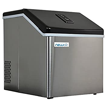 NewAir Countertop Clear Ice Maker Machine Makes 40 lbs of Ice Portable Stainless Steel ClearIce40
