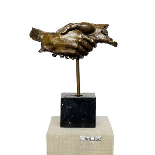 Figura moderna de bronce – amistad – firmada – compra arte moderno – compra esculturas