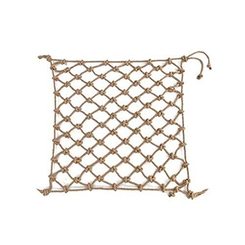 WWWANG Nets de seguridad para niños, redes de remolque neto decorativo Redes de escalera Balcón Balcón Net Playground Escalada Net Net Barrier Net, Tamaños múltiples, Cuerda de cáñamo Equipo de protec