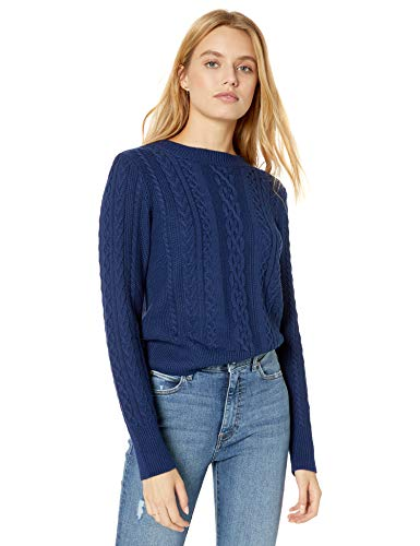 The Drop Kat Cable Suéter de Cuello Redondo Pullover-Sweaters Mujer