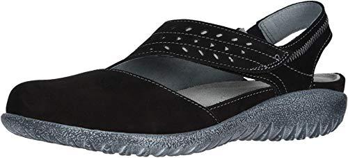 NAOT Footwear Women's Kapua Black Velvet Nubuck/Gray Underlay Maryjane Shoe 10 M US