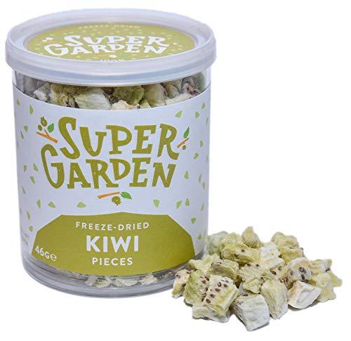 Supergarden Gefriergetrocknete Kiwistückchen - 100% Rein Und Natürlich - Für Veganer Geeignet - Ohne Zuckerzusatz, Künstliche Zusatzstoffe Und Konservierungsmittel