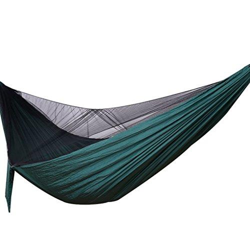 Honglimeiwujindian Outdoor-Reise-Hängematte 600 Lb Tragbarer Doppelhängematte mit Moskitonetz for Rucksack Camping Trip Strände und Paddocks langlebig und leicht Zelt Isomatte Schaukel
