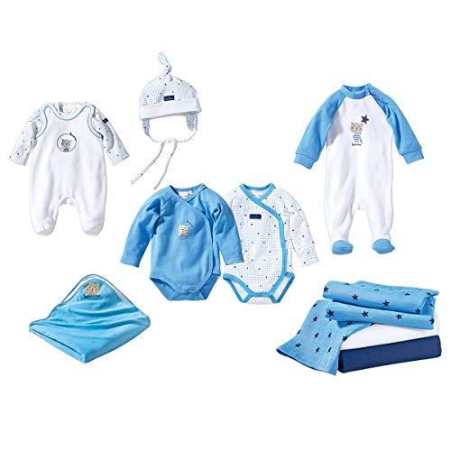 Bornino Le Coffret de Naissance 10 pièces sous-vêtements bébé vêtements bébé, Bleu Ciel