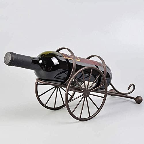 Tenedor de vino Decoración para el hogar Creativo Ornamentos de hierro forjado de alambre de metal Estante de vino Titular de una sola botella Soporte de vino, para el hogar / oficina / decoraciones d
