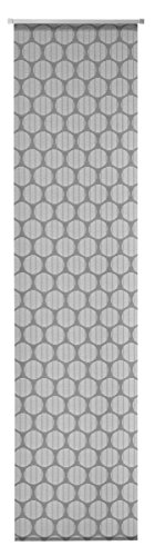 Deko Trends - Tenda a pannello con carrello in alluminio e asta di contrappeso, in poliestere, 245 x 60 cm, colore: Nero/Bianco
