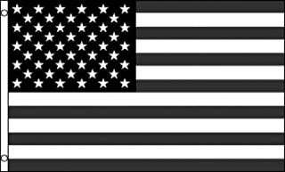 3x5 Foot Polyester Black and White American Flag Recession USA