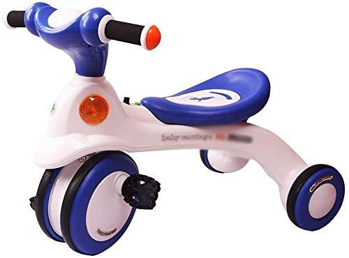 Xiaoyue Fahrräder Kinder Dreirad Fahrrad 3~6 Jahre alt Kind Fahrrad Indoor Lernübung Fahrrad Junge Kinder-Fahrrad (Farbe: Rosa, Größe: 65x39.5x49.5cm) lalay (Color : Blue, Size : 65x39.5x49.5cm)