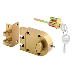 PROHIBIT FORCED ENTRY – Use our strong, durable deadlock, featuring a jimmy-resistant design, to prohibit forced entry by the spreading of door frames. It provides added security to your home by securing your door to its jamb and includes a tamper-re...