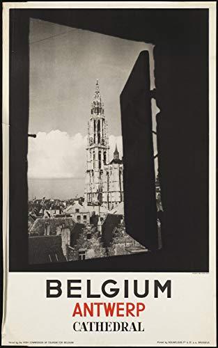 HALEY GAINES Antwerp Cathedral metalen borden Decoratie Retro stijl schild Vintage Aluminium Poster Originele muurkunst voor bar café keuken garages 20×30cm