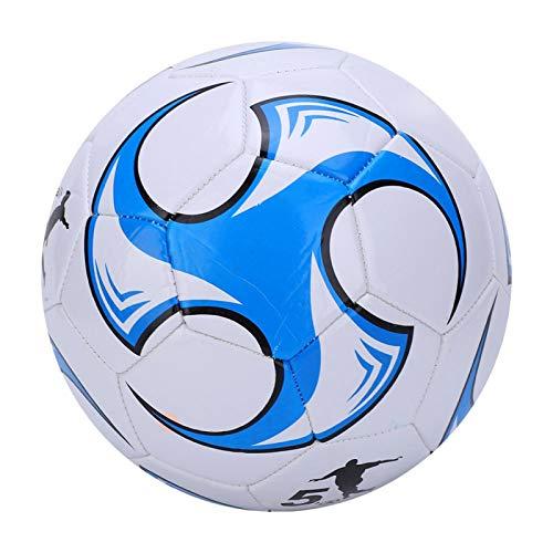 Omabeta Balón de fútbol de piel para entrenamiento de fútbol de 2,7 mm de grosor para estudiantes de entretenimiento, para disparar y pasar de fútbol