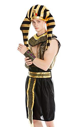 dressmeup Dress ME UP - M-0028-M/L Disfraz Hombre Carnaval Halloween Ramsés Egipcio faraón Talla M/L