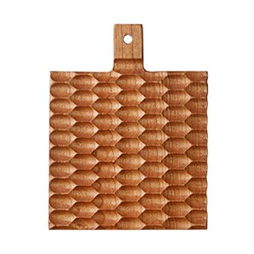 MOVKZACV Posavasos hechos a mano con forma de panal, cojín de madera duradera, cojín de madera maciza con forma de panal, tazas cuadradas para decoración del hogar (madera de cerezo)