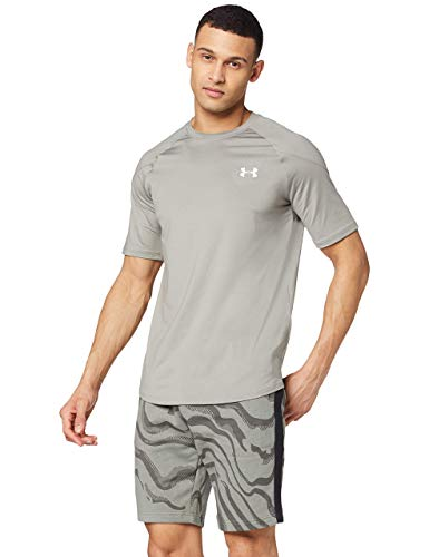 Under Armour Recover Camisa Manga Corta, Hombre, Verde, MD
