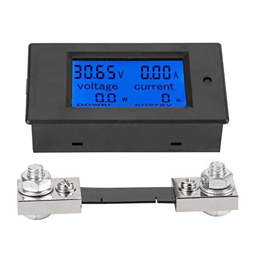 Akozon PEACEFAIR PZEM-051 LCD-Display DC 6,5-100 V Digital Electric Power Energy Spannung Stromzähler Power Energy Battery Monitor Stromstärke Meteranzeige mit integriertem Shunt(50A Splitter)