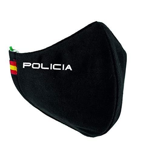 Mascarilla Policia con Bandera España