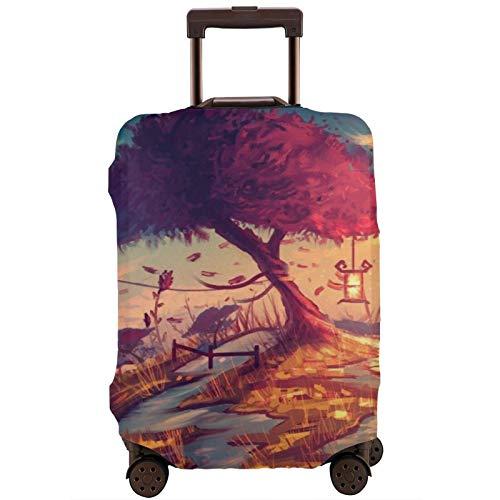 Cubierta de equipaje de viaje Artwork Treesna Ture Maleta Protector lavable Fundas de equipaje