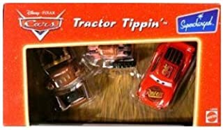 Disney Pixar Cars Supercharged Tractor Tippin' Die Cast Car Set with Lightning McQueen, Mater, Tractor