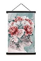 花の風景油絵パターン装飾的な絵画、カスタマイズ可能なリビングルームの寝室のオフィスのためのアートスクロール絵画壁の装飾 ZW046-60 x 90cm