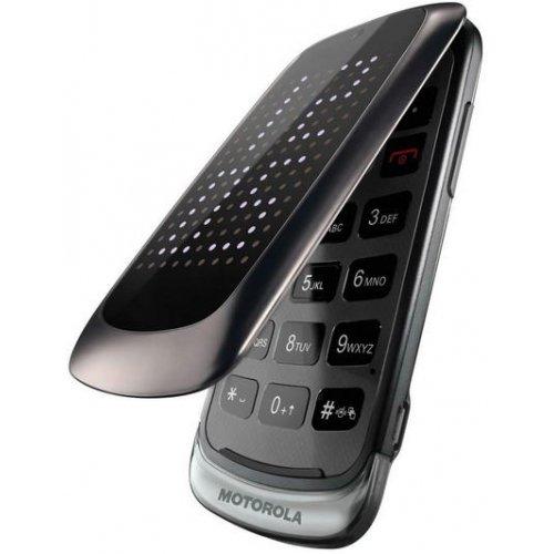 Motorola Gleam+ Klapphandy (6,1 cm (2,4 Zoll) TFT-Display, 2 Megapixel Kamera, USB 2.0) dunkel silber