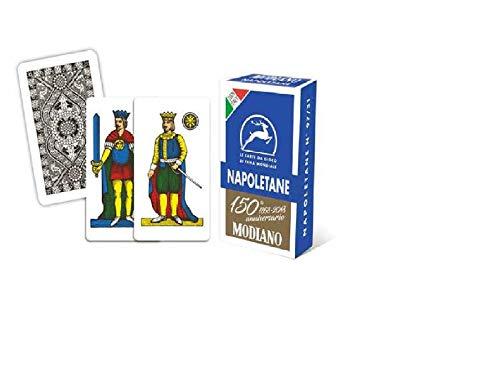 Modiano-Le Carte da Gioco Napoletane del 150° Anniversario, Colore Blu, 300081