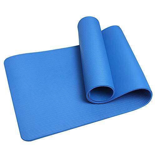 KirinSport Gymnastikmatte,Yogamatte Pilates Fitness Sportmatte Yoga Matte mit Gurte und Netzbeutel Blau