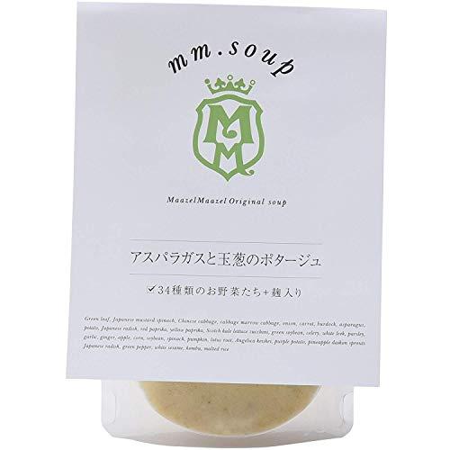 mm.soup アスパラガスと玉葱のポタージュ 180g×6P 34種類の純国産野菜と伝統発酵食材の米こうじが入った食べるスープスムージー