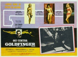 Goldfinger – James Bond – Sean Connery – Mexican Imported Movie Wall Print – 30 cm x 43 cm 007