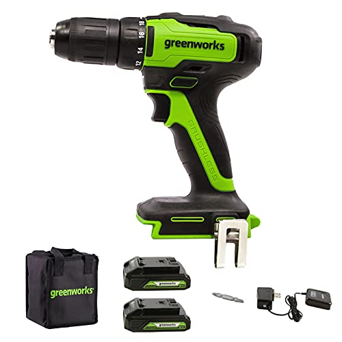 Greenworks 24V Brushless Cordless 1/2-Inch Drill / Driver Only $73.15 (Retail $129.99)